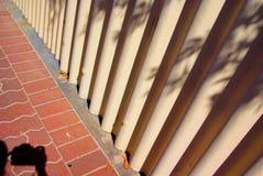 Fotograf-Schatten u. Zaun Stockbilder