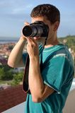 Fotograf-Schießen Stockbilder