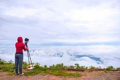 Fotograf som tar fotografi för Thailand loppnatur Fotografering för Bildbyråer
