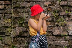 Fotograf szkolny wiek fotografia royalty free