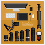 Fotograf Tool Lizenzfreie Stockfotos