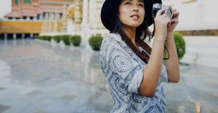 Fotograf-Travel Sightseeing Wander-Hobby-Erholungs-Konzept Lizenzfreie Stockfotografie