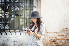 Fotograf-Travel Sightseeing Wander-Hobby-Erholungs-Konzept Stockfotos