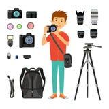 Fotograf- und Fotogeräte Lizenzfreie Stockfotos