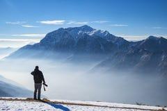 Fotograf w alps Zdjęcie Royalty Free