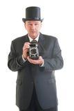Fotograf w retro garniturze Zdjęcie Stock