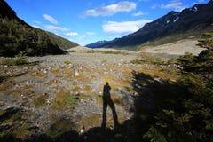 Fotograf w Torres Del Paine parku narodowym, Chile Obraz Royalty Free