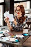 Fotograf Working Stockfoto