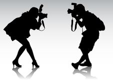 Fotograf zwei Lizenzfreie Stockbilder