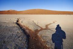 Fotografa cień w pustyni obrazy royalty free