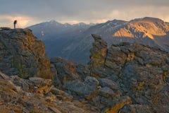 Fotografía de las montañas rocosas Foto de archivo