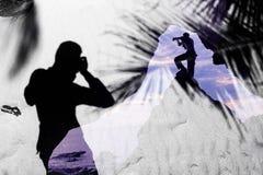 Fotografa i piaska cienia tło Obrazy Stock