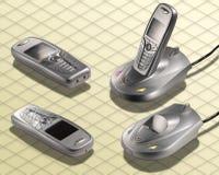 Fotografía isométrica - radio del teléfono sin cuerda Fotos de archivo libres de regalías