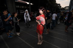 Fotografa krótkopędu cosplay dziewczyny Zdjęcia Royalty Free