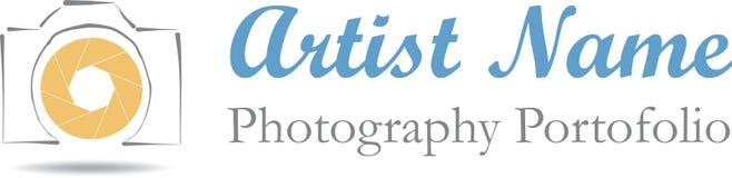 Fotografa loga ilustracja Zdjęcie Stock