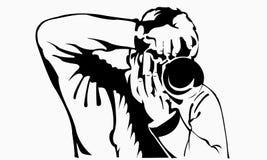 Fotografa mężczyzna biznesu kamera ilustracji
