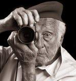 fotografa senior Zdjęcie Stock
