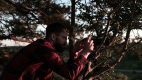 Fotografando al tramonto stock footage