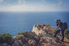 Fotografando a angra impressionante do naufrágio foto de stock royalty free
