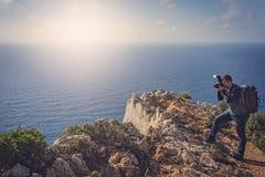 Fotografando a angra impressionante do naufrágio imagens de stock royalty free