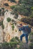 Fotografando a angra impressionante do naufrágio imagem de stock