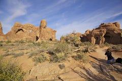 Fotografando a paisagem dos arcos N.P. Utá Foto de Stock Royalty Free