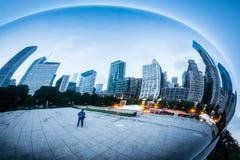 Fotografare Chicago al fagiolo Fotografie Stock Libere da Diritti
