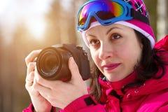 Fotografare degli sport invernali Fotografia Stock Libera da Diritti