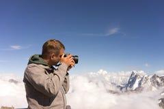 Fotografare i paesaggi delle alpi immagine stock libera da diritti