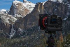Fotografare la valle di Yosemite fotografia stock
