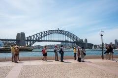 Fotografare Sydney Harbour Bridge Immagini Stock