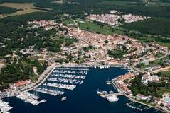 Fotografe do ar de Vrsar em Istria, Croácia Fotos de Stock