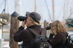 Fotografen bei der Arbeit Lizenzfreie Stockfotografie