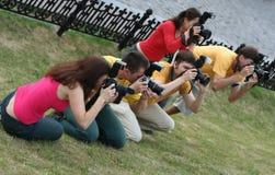 Fotografen bei der Arbeit lizenzfreies stockfoto