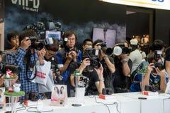 Fotografen bei der Arbeit Stockbild