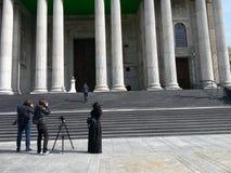 Fotografen bij een huwelijk Royalty-vrije Stock Afbeelding