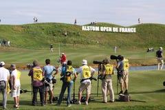 Fotografen an den Golffranzosen öffnen 2015 Lizenzfreie Stockfotografie