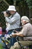 Fotografen, die Fotos am Ereignis machen Stockfotos