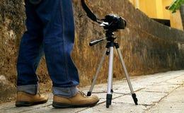Fotografen på arbete Arkivfoton