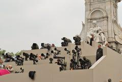 Fotografen am Prinzen William und Kate Middleton Lizenzfreie Stockbilder