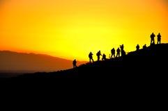 Fotografer och soluppgång Arkivfoto