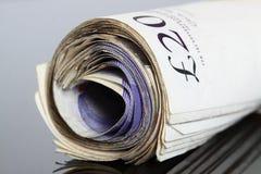Brittiska sedlar C Fotografering för Bildbyråer