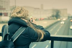 fotografera biltrafik Royaltyfria Foton