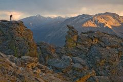 fotografera för berg som är stenigt Arkivfoto