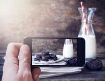 Fotografera för kakor arkivbilder