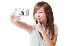 Fotografera för själv royaltyfri bild