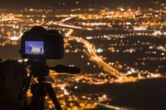 Fotografera Murcia på natt II Royaltyfria Foton
