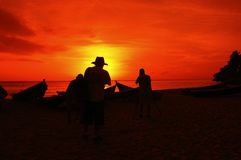 fotografera solnedgång Royaltyfri Bild