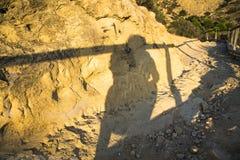 Fotografera under solnedgångsolen Royaltyfria Foton