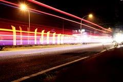 Fotografi επίδρασης φωτισμού nigth teknik στοκ εικόνες